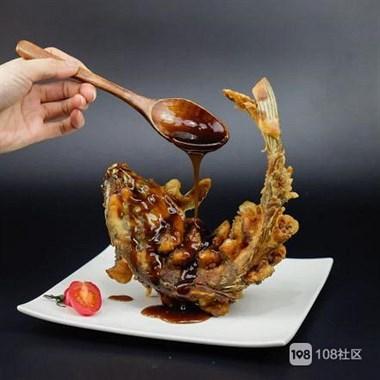 一道创意菜鲤鱼跃龙门,寓意好,造型好,用来宴客,年夜饭极好