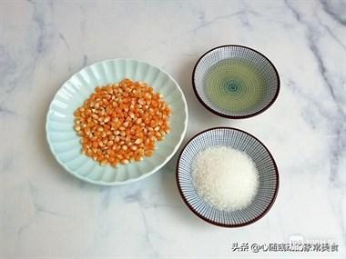 1把玉米1勺白糖,教你在家做爆米花,2分钟爆一锅,粒粒开花香甜