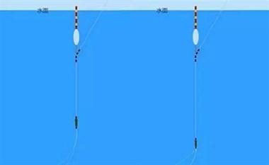 相比带钩调漂,要说适合野钓的,还得是无钩剪子线调漂