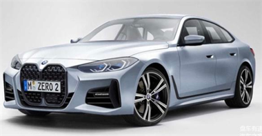 全新一代宝马4系Gran Coupe车型的渲染图