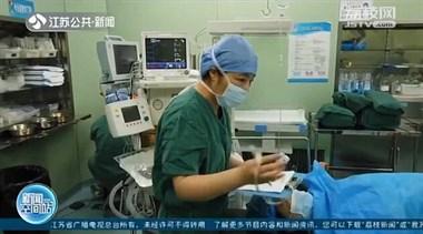 淮安:手术室里视频互动 感动二胎奶爸