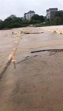 衢州暴雨多地出事了!挖机险被冲,轿车遭砸,骡子被困江中…