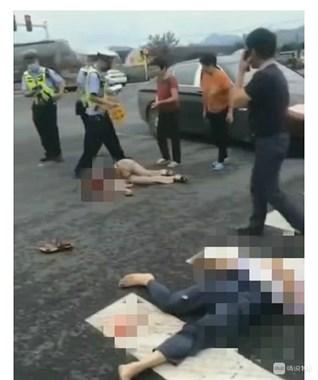 突发!绍兴发生惨烈车祸!一男一女倒地出血