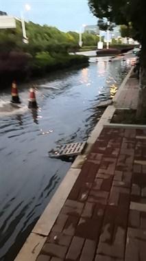 """武康这条路已成""""河""""!一直冒臭水,路过行人见了就绕道"""