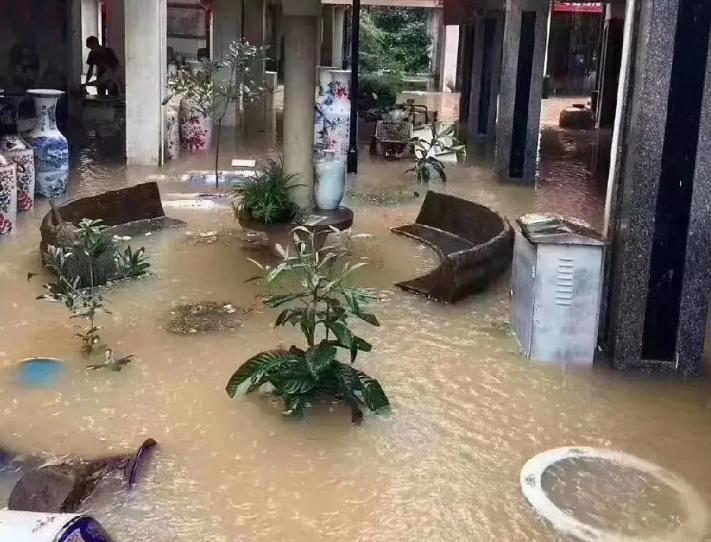 今年开店太难了!景德镇这里瓷器店一楼全被淹,装修也玩完