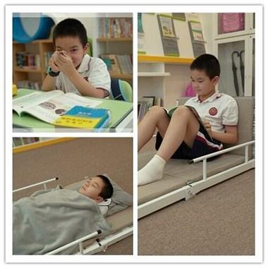 出课桌和午休床是一体两用  可学习休息两用的课桌