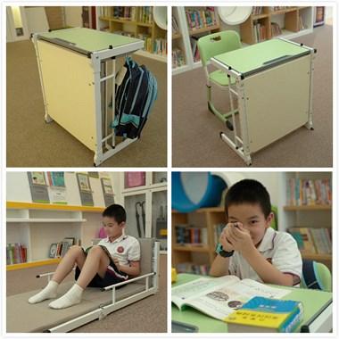 教育机构学生课桌 可当床午休 上课休息两用