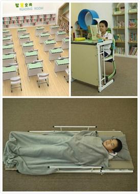中小学生课桌椅 展开可当床休息 省时省力省空间