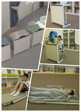 托管班课桌椅 桌床两用 6岁以上小朋友可以用