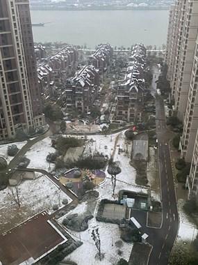 下雪了好多年没见到了