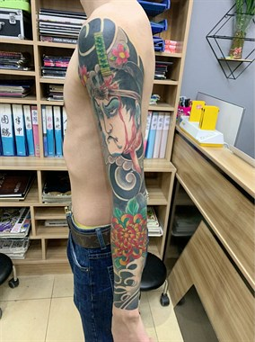 老传统花臂纹身#吴江纹身刺青#吴江酷客纹身