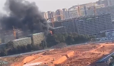 刚刚西区一在建工地着火了!浓烟滚滚,消防已赶到