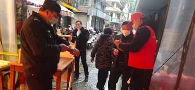 防疫绝不落后,温岭城之南党员志愿者一直在行动