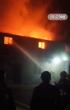 绍兴一户人家突然起火,6辆消防车赶到!
