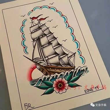 帆船纹身#吴江酷客纹身