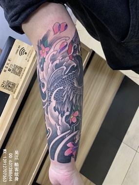 包小臂纹身 吴江酷客纹身