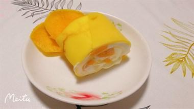 今日份甜品:芒果毛巾卷