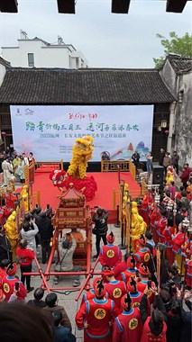 难得一见!海宁上演民俗盛典!舞狮、腰鼓队、花轿齐上阵!