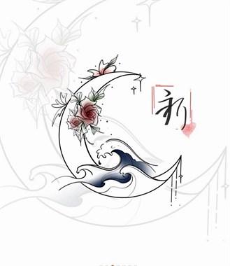 适合纹在肩部#背部纹身#精致月牙小纹身#吴江纹身