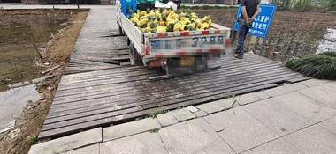 乾元一货车把桥压塌了!车轮被卡出不来,不知要赔多少钱
