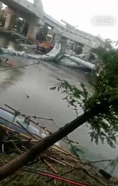 突发!杭绍台高速一在建桥梁突然垮塌 现场视频曝光!