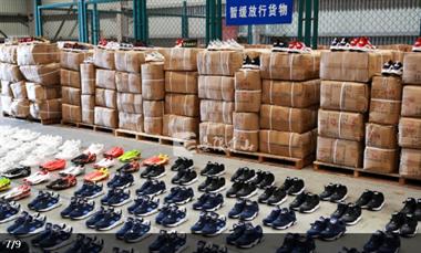 买这些品牌鞋的快看!舟山海关查获一批假货,有10400双