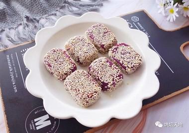吃不胖!非油炸!无糖奶香紫薯软饼!