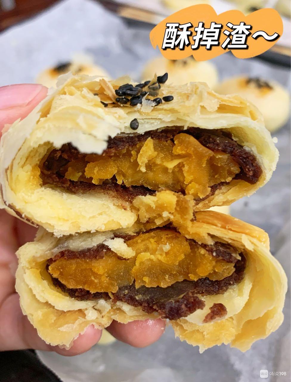 赤城小伙烤一炉天台传统月饼,嘴馋的老婆和丈母娘吃美了!