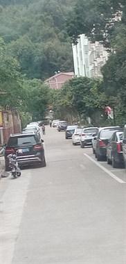 小区里2辆奔驰并排停路边,新手司机开车瑟瑟发抖,不敢过!