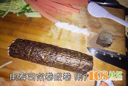 寿司你喜欢吃吗?临安妹子自己做寿司过程,赶紧来围观吧!